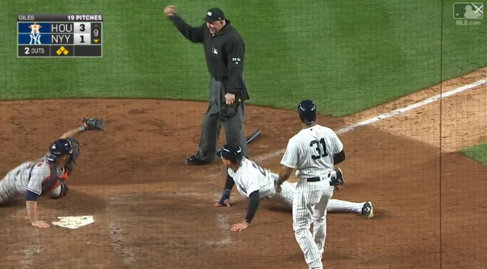 Yankees Out at Home Season